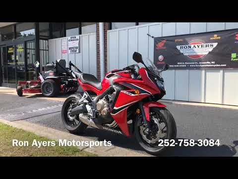 2018 Honda CBR650F in Greenville, North Carolina - Video 1