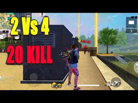 Duo Vs Squad 20 kill and booyah tricks|| Free fire squad kill tips|| Run Gaming