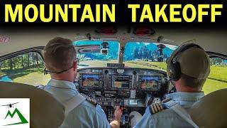 EPIC Takeoff & Landing at a Sloped Mountain Runway   Bush Pilot Flight Vlog