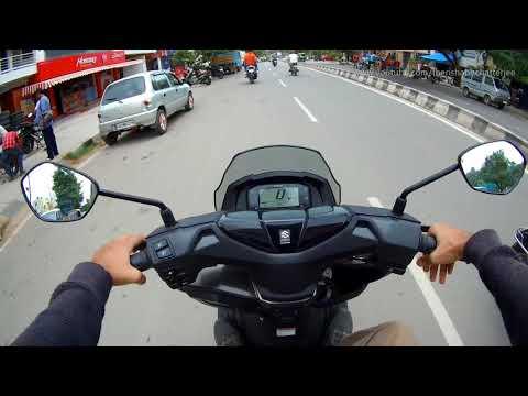 Suzuki Burgman Street 125 First Ride Review New Scooter 2018