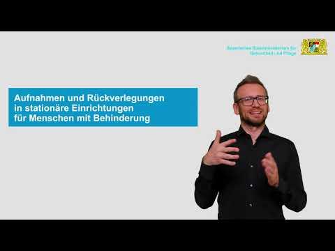 Allgemeinverfügung zu den Regelungen für stationäre Einrichtungen für Menschen mit Behinderung vom 1. Dezember 2020 - in Deutsche Gebärdensprache