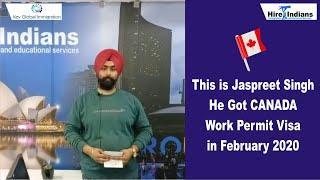 Mr.Jaspreet Singh Bhatia got his Canada work permit.