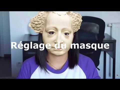 Le masque pour la personne avec le sureau