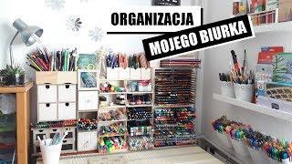 Organizacja biurka, czyli mój kącik artystyczny w maleńkim pokoju :D   Desk Tour HD