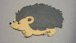 Make A Cute Felt Applique Hedgehog - DIY Crafts - Guidecentral
