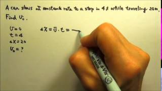 Sample Question 3 by College Board Oct 2012: Kinematics