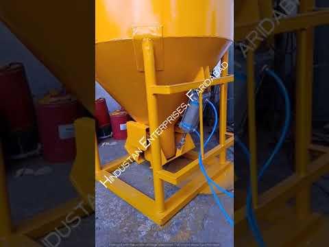 Pneumatic Tower Crane Cone Type Concrete Bucket