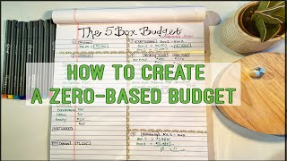 The 5 Box Budget Method | ZERO-BASED BUDGET FOR BEGINNERS | DAVE RAMSEY INSPIRED | Samantha Saves