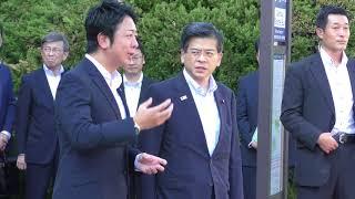 福岡市長高島宗一郎石井国土交通大臣が視察にいらっしゃいました