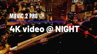 4K video at night with the Dji Mavic 2 Pro. Can the Evo 2 catch this? #citylights #dji