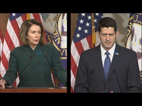 Pelosi, Ryan Clash Over Tax Reform