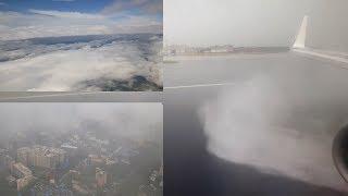 Stormy monsoon weather landing in Mumbai, India [4K]
