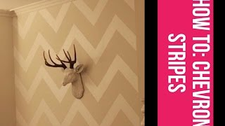 How To Do Chevron Pattern Or Stripes On A Wall