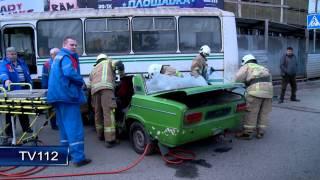 TV112 Столкновение автобуса и легковушки в Архангельске