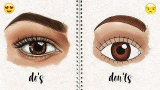 DO'S AND DON'TS: How to Draw Semi Realistic Eye   Natalia Madej