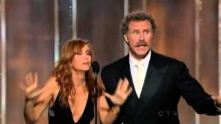 Will Ferrell & Kristen Wiig Hilarious Presenting Speech  70th Annual Golden Globe Awards 2013