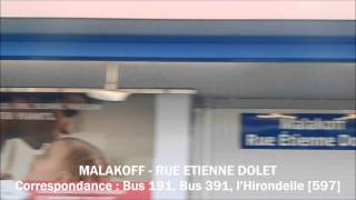 preview picture of video 'MF77 - Ligne 13 RATP - Trajet entre Châtillon Montrouge et Malakoff - Plateau de Vanves'
