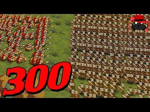 스파르탄300명 vs 페르시안 1000명의 싸움! 2D로 보는 병맛 전쟁 시뮬레이터 │하이퍼 나이츠 배틀 - Hyper Knights Battle - '왈도쿤'