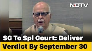 September 30 Deadline For Babri Case In Which LK Advani Is An Accused - Download this Video in MP3, M4A, WEBM, MP4, 3GP