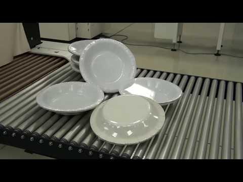 Paper plate shrink packaging