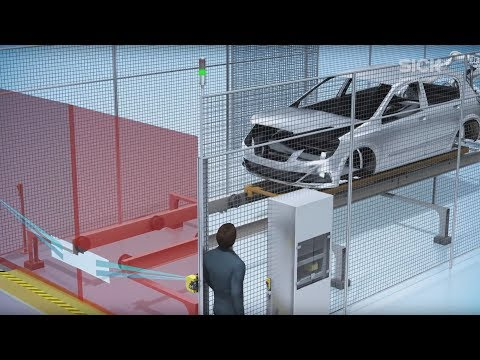 Safe Portal Solutions: Safeguarding of entry/exit applications in automotive industry | SICK AG