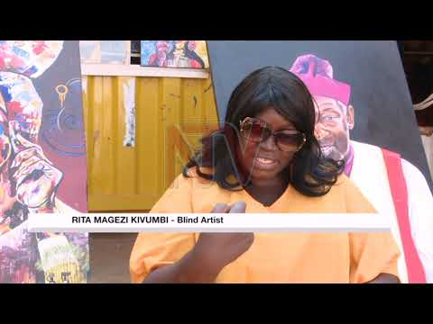 Rita Kivumbi lost her sight but kept her passion for art