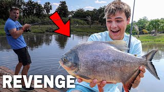 REVENGE on My PET FISH in BACKYARD POND!! (crazy)