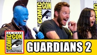 GUARDIANS OF THE GALAXY VOL 2 Comic Con  Chris Pratt Zoe Saldana Karen Gillan Dave Bautista
