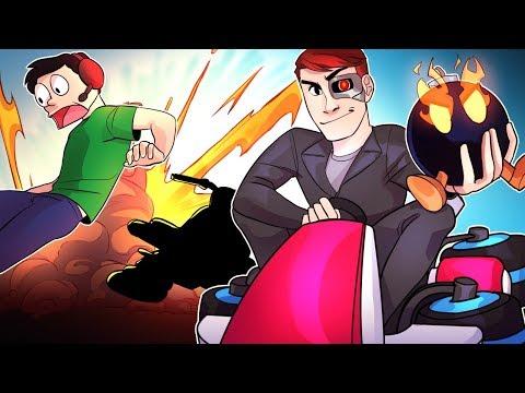 Mario Kart 8 Deluxe Funny Moments: The Wildcat Glitch, Nogla's English Skills & SO MANY BOMBS!!!