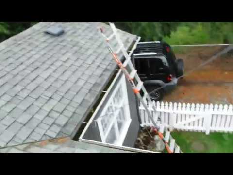 Little video of clogged gutters in Everett, WA where the homeowner had several companies out and almost all of them (except us) offered to just