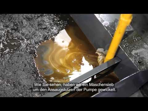 Kühlmittel für Werkzeugmaschinen: Reinigen des Kühlmitteltanks
