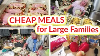 CHEAP MEALS For LARGE FAMILIES | 10 Frugal FREEZER MEALS And 3 EASY Casserole Recipes!