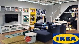 IKEA LIVING ROOM IDEAS FURNITURE HOME DECOR - SHOP WITH ME SHOPPING STORE WALK THROUGH 4K