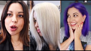 From Dark Brown To Platinum To Purple In ONE DAY