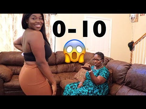 MY AFRICAN MOM RATES MY FASHION NOVA OUTFITS (She confiscated my jeans!!)