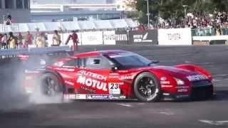 「MOTOR SPORT JAPAN FESTIVAL 2014」1日目 柳田選手によるGT-Rデモラン
