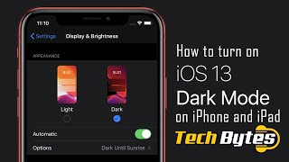 How to turn on DARK MODE on iPHONE and iPAD | TECHBYTES