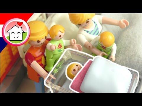 Playmobil filmpje Nederlands De geboorte van Mia - Familie Huizer - Ziekenhuis