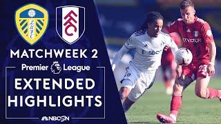 Leeds United v. Fulham | PREMIER LEAGUE HIGHLIGHTS | 9/19/2020 | NBC Sports