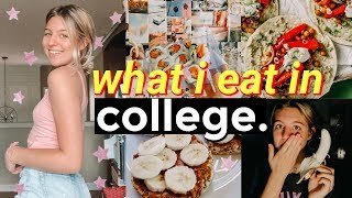 What I eat in a day in college (realistic + somewhat healthy!)