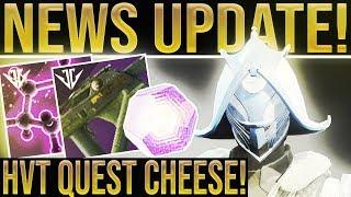 Destiny 2. NEWS UPDATE! HVT Cheese Glitch, Power Loot Buffs, Iron Banner, Roadmap/Calendar Update