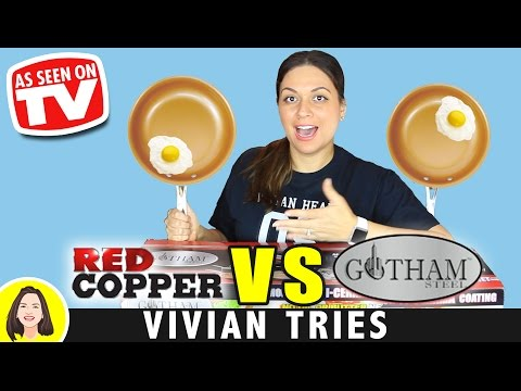 RED COPPER vs GOTHAM STEEL COPPER PAN REVIEW | TESTING AS SEEN ON TV PRODUCTS