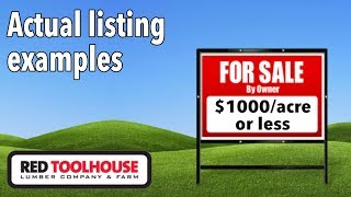 Find homesteading land for under $1000 per acre - Here is how