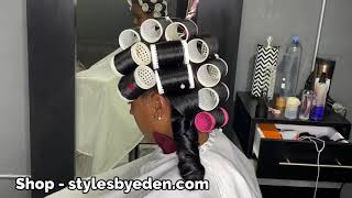 THE MAGICAL ROLLERS!! NATURAL HAIR ROLLER SET!
