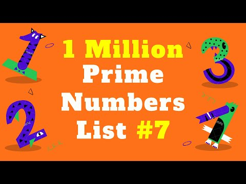 1 Million Prime Numbers List #7 | Prime Numbers Between 1 up to 1 Million