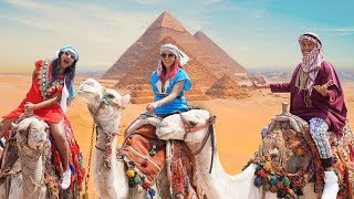 FOREIGNERS DISGUISE OF EGYPTIANS TO CAN ENTER THE PYRAMIDS | POLLENIOSIOS VLOGS