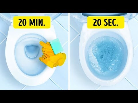 20 WAYS TO CLEAN YOUR HOUSE IN JUST A FEW MINUTES