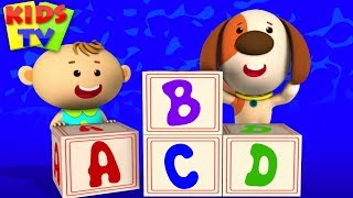 ABC Song | Little Eddie Cartoon | Nursery Rhymes & Baby Songs For Children