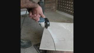 Cutting A Freehand Curve In A Glazed Tile