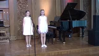 Школьный вальс Халаимов | ансамбль Анастасия Кормишина и София Листарова